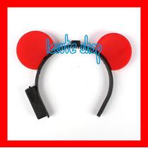10 Diademas Mickey Raton Luminosa Led Luz Varios Colores