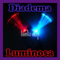 10 Diademas Fibra Optica Luminosa Luz Led Fiesta Evento Rave