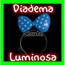 10 Diademas Luminosas Moño Mimi Minnie Led Colores Mini