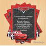Invitacion Digital Imprimible Cars Cumpleaños