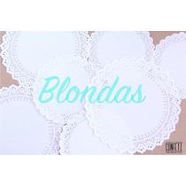 50 Blondas De Papel Calado Repostería Decoración Fiestas