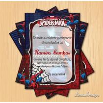 Invitacion Digital Imprimible Hombre Araña Cumpleaños