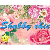 Kit Imprimible Shabby Chic Rosas Diseñá Tarjetas, Cumples