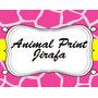 Invitaciones Animal Print Jirafa Diseñá Tarjetas, Cumples