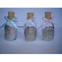 Paquete Recuerdito 10 Botellitas Agua Bendita Repujado Angel