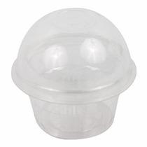 10 Vasos Con Domo Para Cupcake O Dulces, 8 X 9 Cm Candy Bar