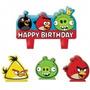Angry Birds Vela Fiesta Infantil Decoracion Pastel Pajaros