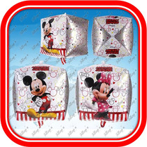 Globo Cubo Mickey Y Minnie Mouse Super Original De 30cm*30cm