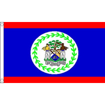Bandera - Belice Beliceño 3ftx 2ft Nacional País Metal