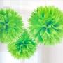 10 Pompones De Papel 30 Cm