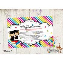 Invitaciones Para Graduación---imprimelas Tu---maa