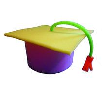 Birrete Sombrero De Hule Espuma Graduación