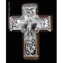 Cruz De Pewter Vida De Jesus