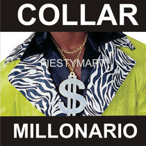 10 Collares Dollar Dinero Fiesta Boda Xv Dj Eventos Rap $$$$