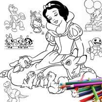 Más De 3000 Imágenes Para Colorear, Solo Imprimes Y Listo.