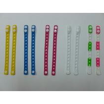 Paquete De 10 Pulseras De Silicon Colores A Solo $70 Pesos