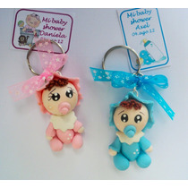 Llaveros Bebes Pasta Francesa Recuerdo Para Baby Shower Daa