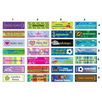 Etiquetas Escolares En Papel Couché Adhesivo