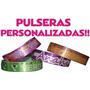 Pulseras Personalizadas 100 Piezas A Todo Color
