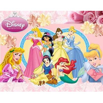 Kit Imprimible Princesas Disney, Invitaciones Y Cajitas