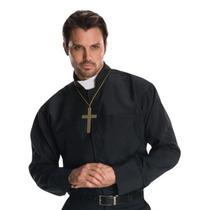 Traje H?roes De Rubie Y Hombres Adultos Sacerdote Camisa,