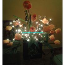 Arreglos De Flores Y Ramas Con Luz 60 Luces