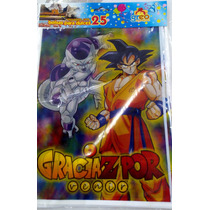 Dragon Ball Z Bolsitas Dulceras 25 Pzas Fiesta Goku Freeser