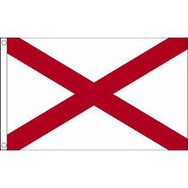 Bandera - Alabama Estados Unidos De América Usa 5ftx 3ft Con