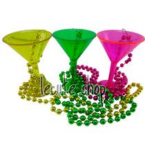 6 Collares Martini Shot Tequila Fiesta Mardi Gras Antro Bar