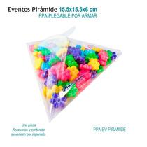 12 Cajas De Acetato En Forma Pirámide,triángulo Para Eventos