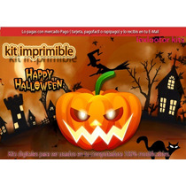 2x1 Kit Imprimible Halloween Candy Bar Mascaras Decoracion