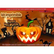 2x1 Kit Imprimible Halloween Candy Bar Mascaras Decoracion