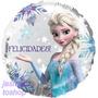 12 Globo Metalico 9 Pulg Elsa Frozen Felicidades Centro Mesa