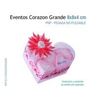 6 Cajas De Acetato, Cajas De Mica En Forma De Corazón