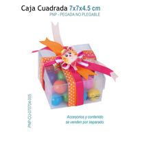 06 Cajas De Acetato Para Dulces,galletas,chocolates