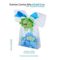 12 Caja De Acetato En Forma De Camisa De Niño, Cajas De Mica
