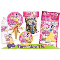 Invitaciones Blanca Nieves=1kit Imprimible Personalizado