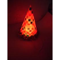Gorrito Luminos Led Para Fiestas Paquete 10pzas