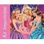 Kit Imprimible Barbie Escuela De Princesas Invitaciones Mas