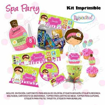 Fiesta Invitación Kit Imprimible Spa Party Niñas #3