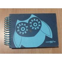 Linda Libreta Cuaderno Buho Azul 100% Original!!
