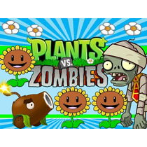 Kit Imprimible Plantas Vs Zombies Diseñá Tarjetas Cumples