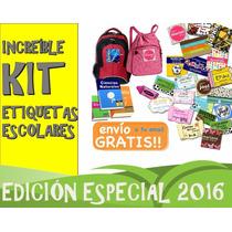 Kit Imprimible Etiquetas Escolares Etiquetas Escolares
