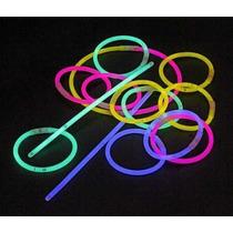 50 Pulseras Luminosas Neon, Glow, Cyalume, Con Luz Dj