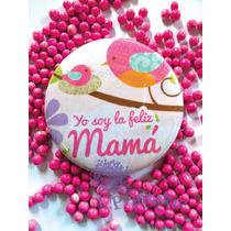 10 Botones Baby Shower Recuerdos ¡con Liston Y Bolsita!