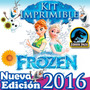 Kit Imprimible Frozen Y Frozen Fever Invitaciones Y Candybar