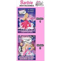 Invitaciones Kit Imprimible Cumpleaños Barbie Moda Magica