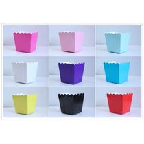 50 Cajas De Palomitas Colores Fiesta Mesa De Dulces Bodas Xv