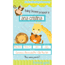 Invitacion Imprimible Para Baby Shower Tipo Ticket Master