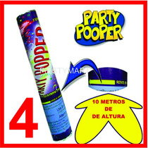 4 Cañones Lanza Confeti Fiesta Boda Xv Bazuca Cañon 40 Cm Dj